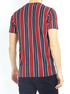 Vertical Stripe T-Shirt Red