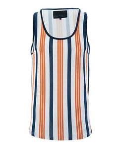 Vertical Stripe Vest Orange