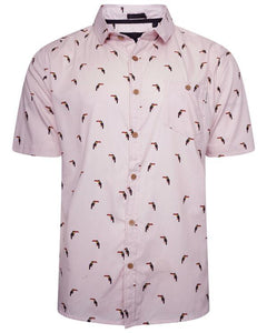 Toucan Holiday Shirt Pink