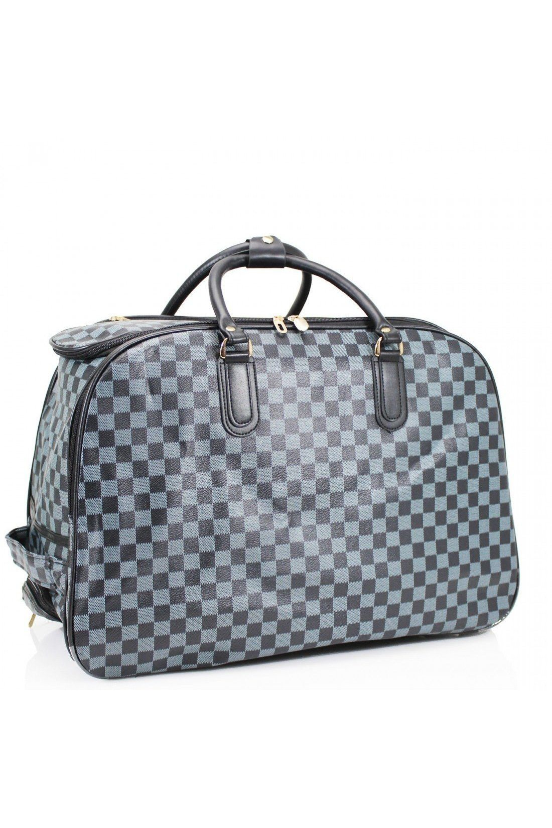 Carry On Bag Blue Check