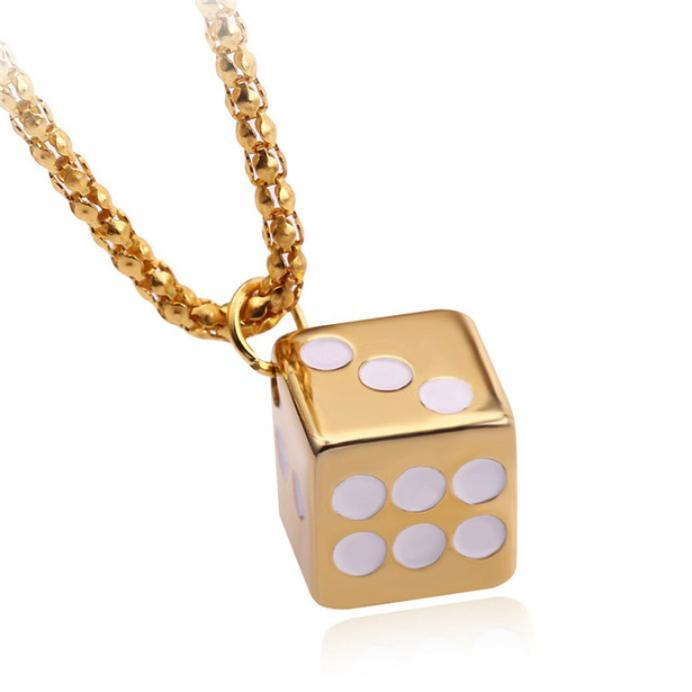 Dice Gold Pendant