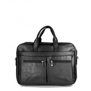Double Pocket Briefcase Black