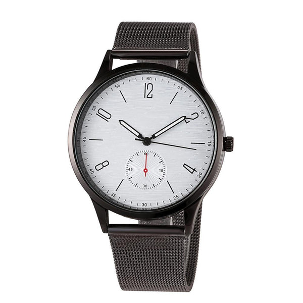 Minimal Mesh Watch Black