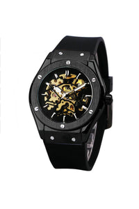 Skeleton Bolt Automatic Watch Black
