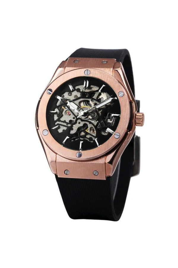 Skeleton Bolt Automatic Watch Rose Gold