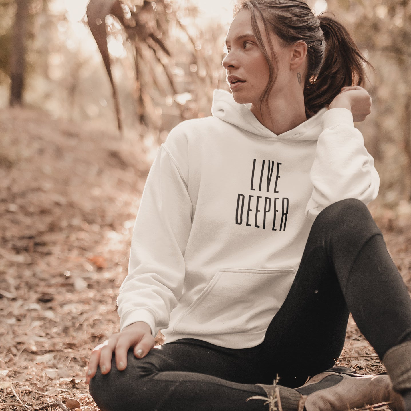 LIVE DEEPER Frequency Graphic Hoodie
