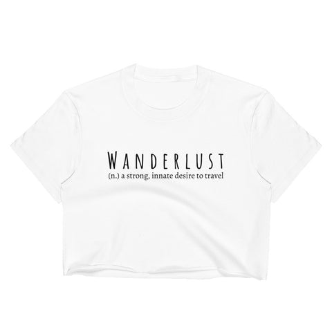 WANDERLUST Evolve Cropped Graphic Tee