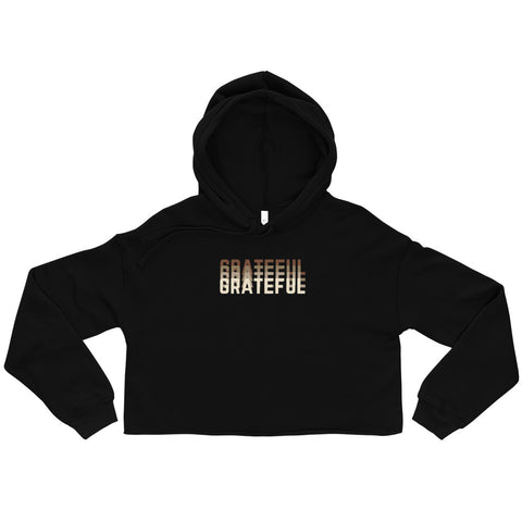 GRATEFUL Abundance Graphic Cropped Hoodie
