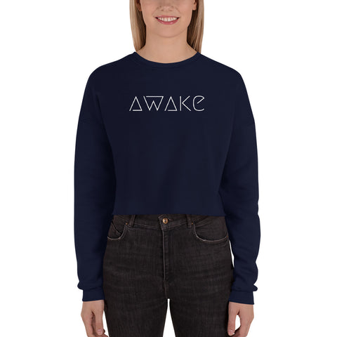 AWAKE Clarity Cropped Graphic Sweatshirt
