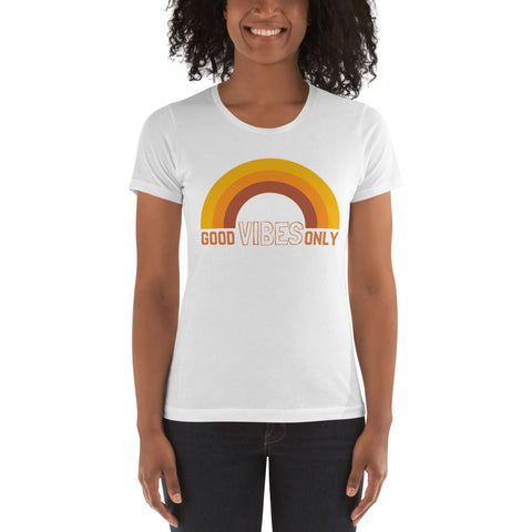 GOOD VIBES ONLY Energy Slim Fit Graphic Tee