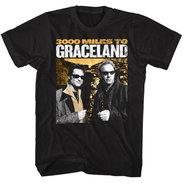 3000 MILES TO GRACELAND-3KMILES-BLACK ADULT S/S TSHIRT