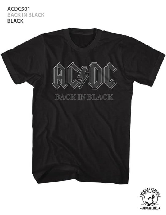 ACDC-BACK IN BLACK-BLACK ADULT S/S TSHIRT