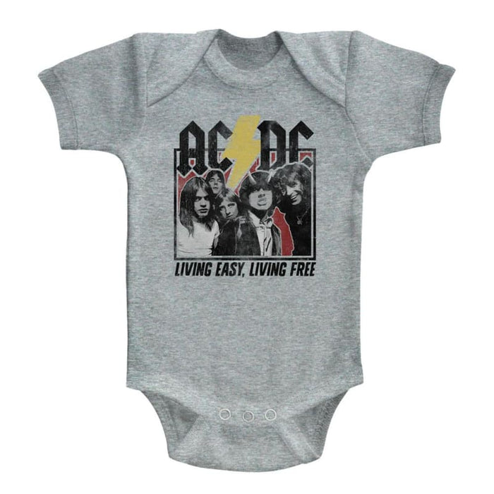 ACDC-HWY2HELL LYRICS-GRAY HEATHER INFANT S/S BODYSUIT