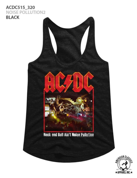 ACDC-NOISE POLLUTION 2-BLACK LADIES RACERBACK