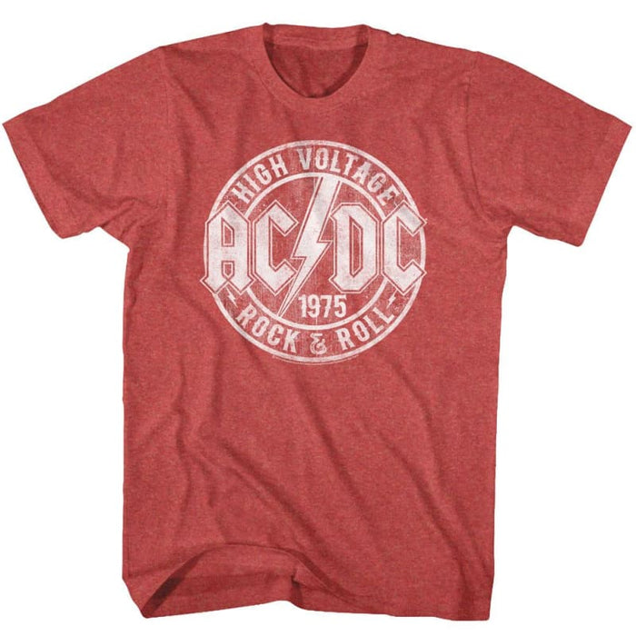 ACDC-R&R-RED HEATHER ADULT S/S TSHIRT