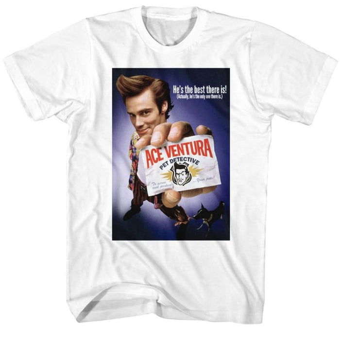 ACE VENTURA-COLOR POSTER-WHITE ADULT S/S TSHIRT