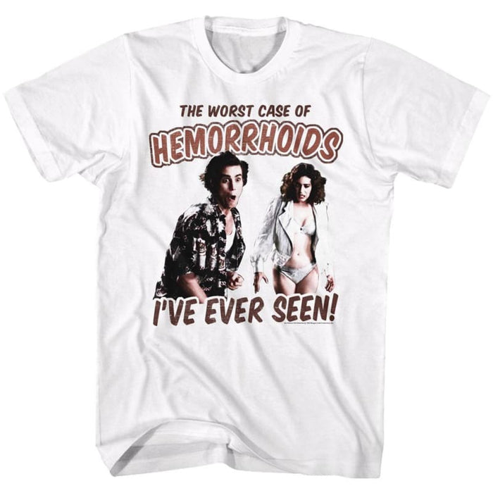 ACE VENTURA-WORST CASE-WHITE ADULT S/S TSHIRT