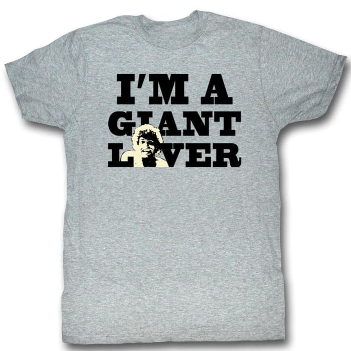 ANDRE THE GIANT-GIANT LOVER-GRAY HEATHER ADULT S/S TSHIRT