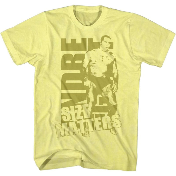 ANDRE THE GIANTIZE GOLD-YELLOW HEATHER ADULT S/S TSHIRT