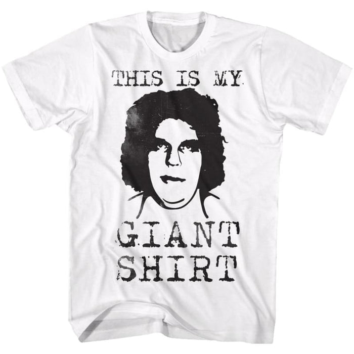 ANDRE THE GIANTTRAIGHT OUTTA HERE-WHITE ADULT S/S TSHIRT