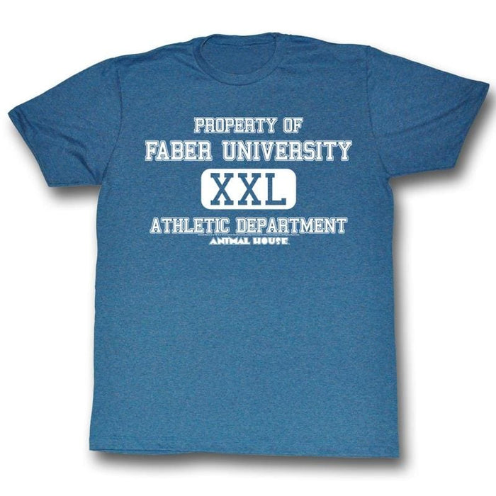 ANIMAL HOUSE-ATHLETIC DEPARTMENT-PACIFIC BLUE HEATHER ADULT S/S TSHIRT