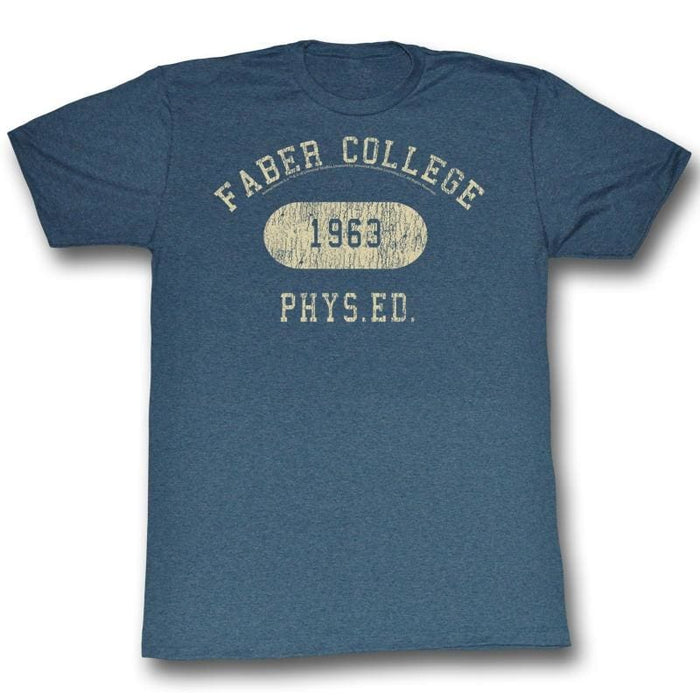 ANIMAL HOUSE-FABER PHYS ED-NAVY ADULT S/S TSHIRT