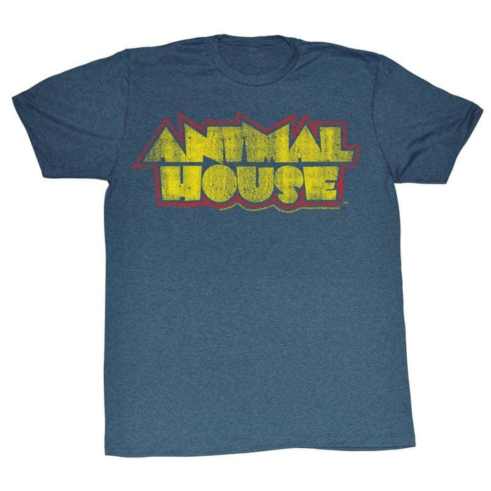 ANIMAL HOUSE-HOUSE FEVER-NAVY HEATHER ADULT S/S TSHIRT