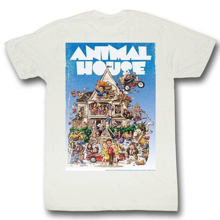 ANIMAL HOUSE-POSTER TIME-WHITE ADULT S/S TSHIRT