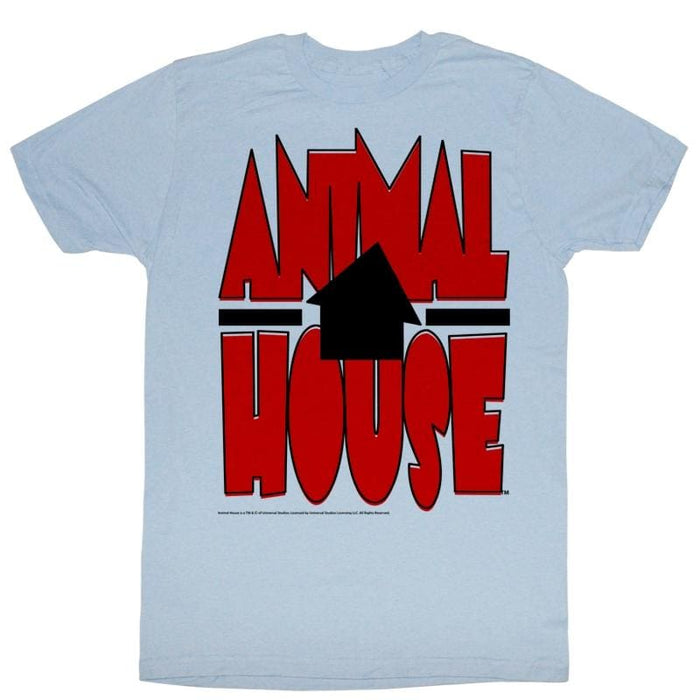ANIMAL HOUSE-TILTED HOUSEIGHT BLUE HEATHER ADULT S/S TSHIRT