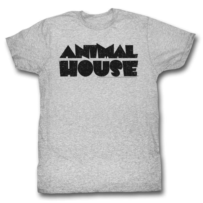 ANIMAL HOUSEOGO-GRAY HEATHER ADULT S/S TSHIRT