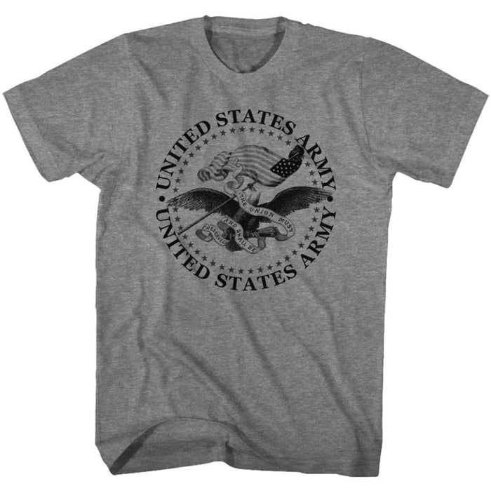 ARMY-PRESERVED-GRAPHITE HEATHER ADULT S/S TSHIRT