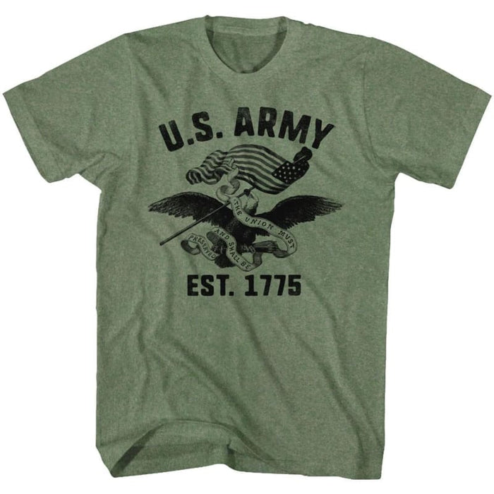 ARMY-THE UNIONILITARY GREEN HEATHER ADULT S/S TSHIRT