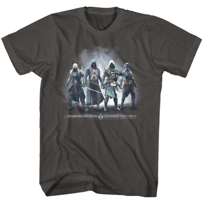 ASSASSINS CREED-ASSASSINS GROUPMOKE ADULT S/S TSHIRT