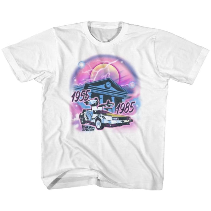 BACK TO THE FUTURE-AIRBRUSH-WHITE TODDLER S/S TSHIRT