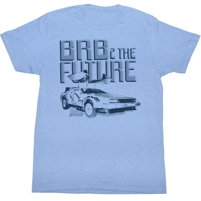 BACK TO THE FUTURE-BRB2IGHT BLUE HEATHER ADULT S/S TSHIRT