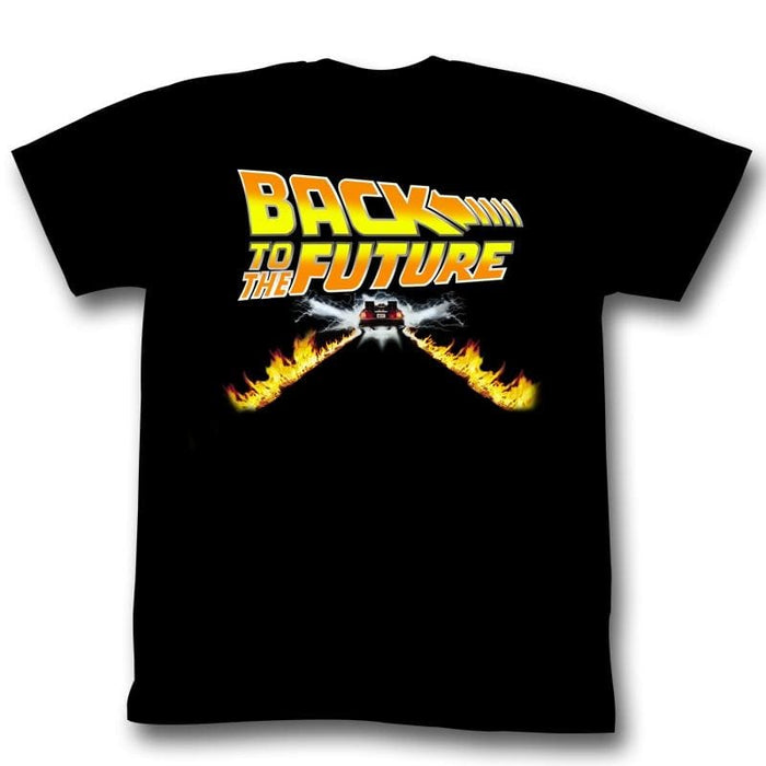 BACK TO THE FUTURE-BTF CAR-BLACK ADULT S/S TSHIRT