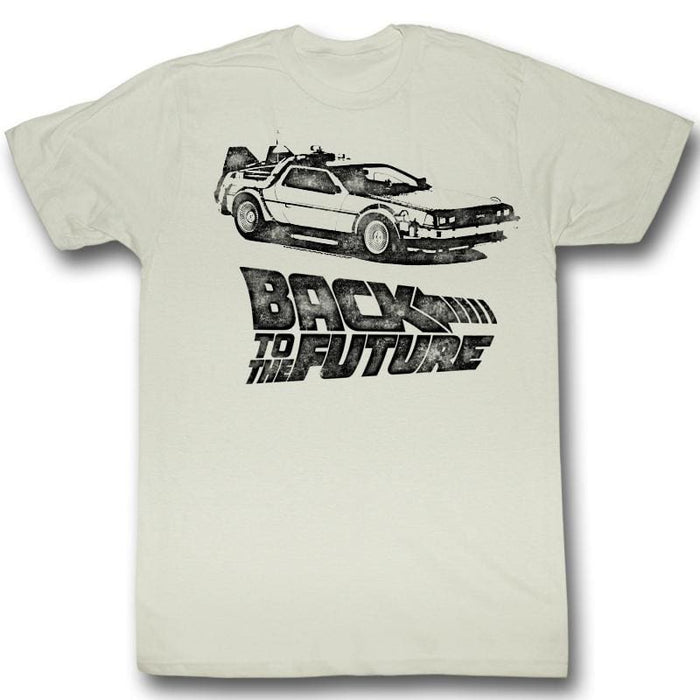 BACK TO THE FUTURE-DMC INK-NATURAL ADULT S/S TSHIRT