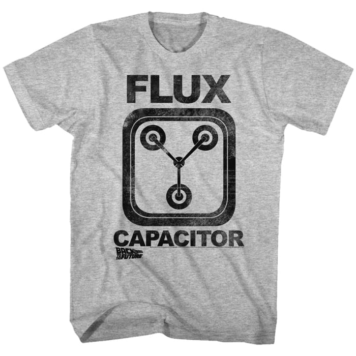 BACK TO THE FUTURE-FLUX CAPACITOR-GRAY HEATHER ADULT S/S TSHIRT
