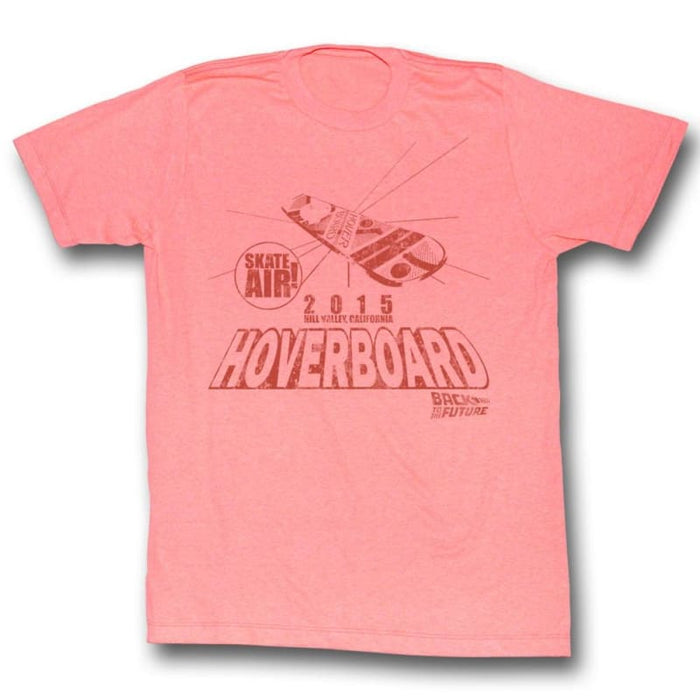BACK TO THE FUTURE-HOVER PEACH-BRIGHT ORANGE HEATHER ADULT S/S TSHIRT