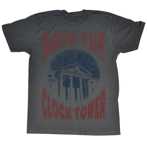 BACK TO THE FUTUREAVES THE DAY-GRAPHITE HEATHER ADULT S/S TSHIRT