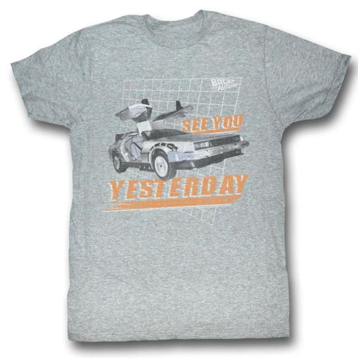 BACK TO THE FUTUREEE YOU-GRAY HEATHER ADULT S/S TSHIRT