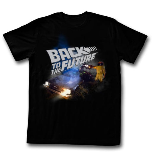 BACK TO THE FUTUREMOKY-BLACK ADULT S/S TSHIRT