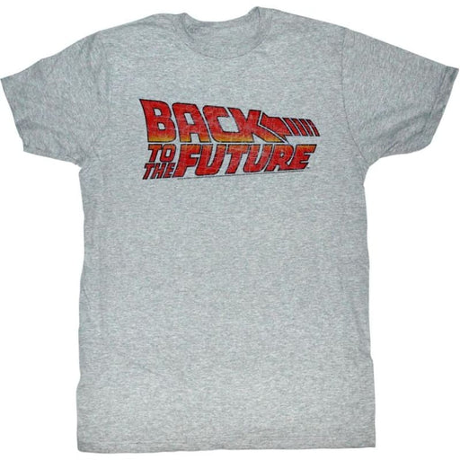 BACK TO THE FUTUREOGO B2F-GRAY HEATHER ADULT S/S TSHIRT