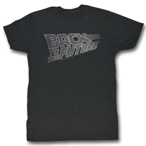 BACK TO THE FUTUREOGO WHITE-BLACK HEATHER ADULT S/S TSHIRT