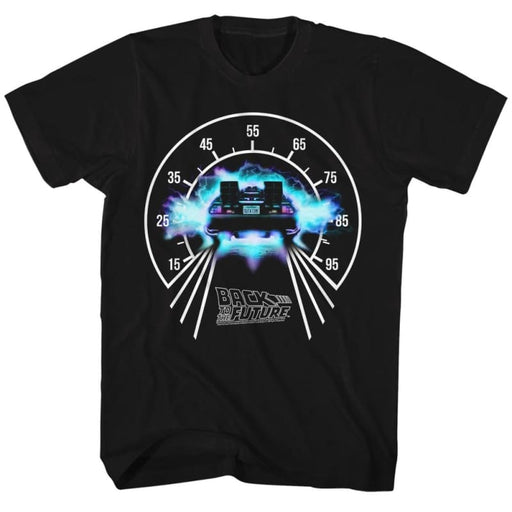 BACK TO THE FUTUREPEEDOMETER-BLACK ADULT S/S TSHIRT