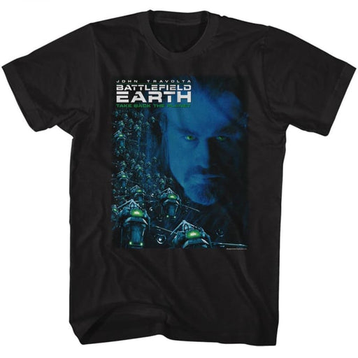 BATTLEFIELD EARTH-BE MOVIE POSTER-BLACK ADULT S/S TSHIRT
