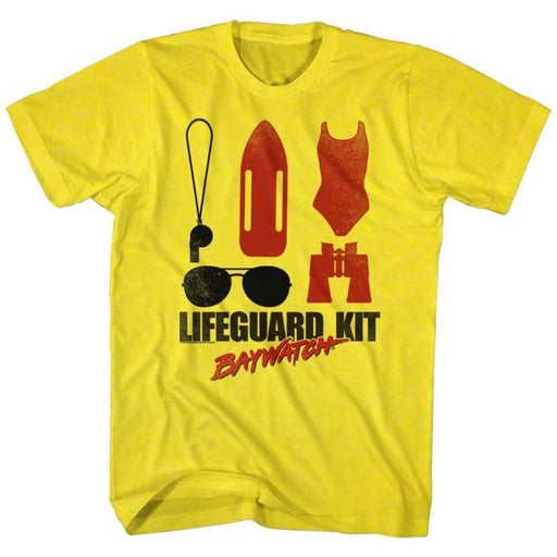 BAYWATCHIFEGUARD KIT-YELLOW ADULT S/S TSHIRT