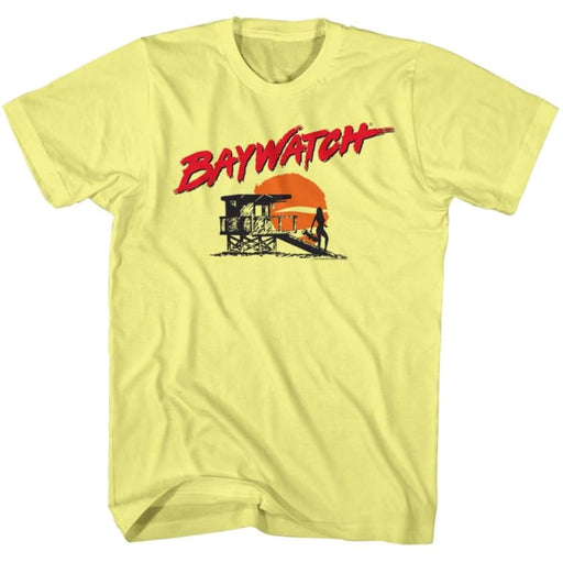 BAYWATCHILHOUETTE-YELLOW HEATHER ADULT S/S TSHIRT