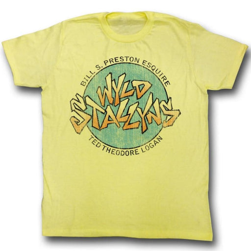 BILL AND TEDTALLYNS-YELLOW HEATHER ADULT S/S TSHIRT