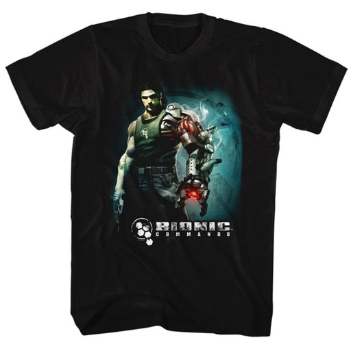 BIONIC COMMANDOTEAM ARM-BLACK ADULT S/S TSHIRT
